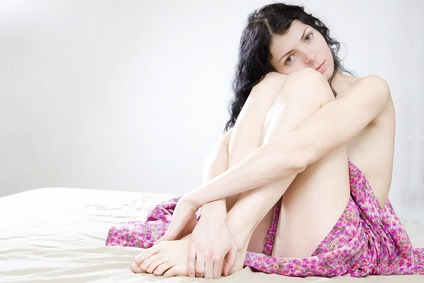Sensual naked young  adult Caucasian woman