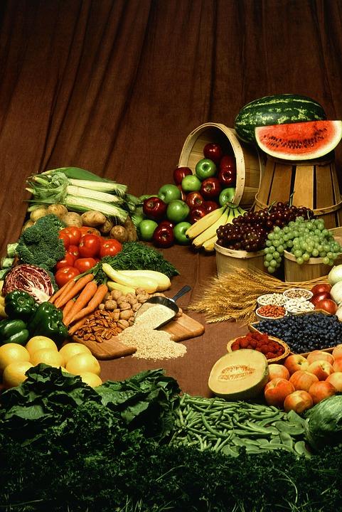 Gesundes Essen. Obst und Gemüse